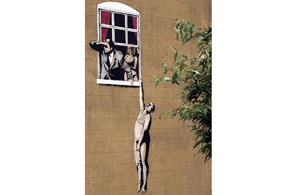 Escape graffiti by Banksy 15 Memorable Street Art Masterpieces by Banksy