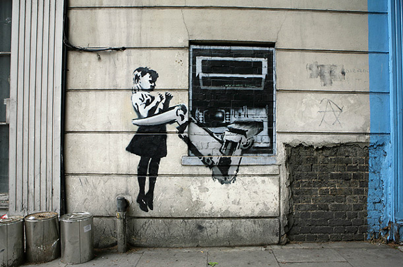 atm banksy 1031 15 Memorable Street Art Masterpieces by Banksy