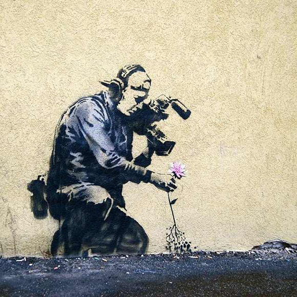 banksy park city sundance o 15 Memorable Street Art Masterpieces by Banksy