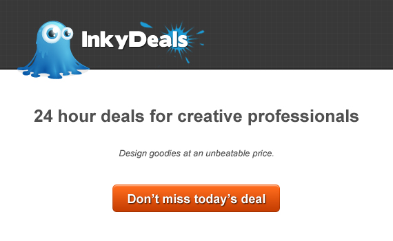 banner inky deals Inkydeals.com   A Cool Website with 24 Hours Deals for Creative Minds!