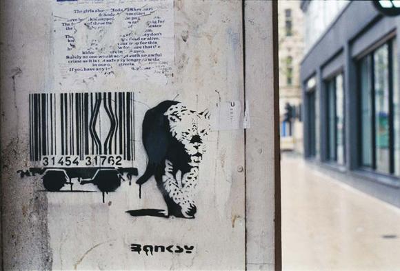 barcode graffiti banksy 15 Memorable Street Art Masterpieces by Banksy