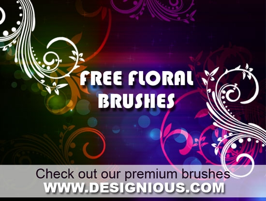 free floral photoshop brushes designious 18 Awesome Free Photoshop Brushes Sets You Must Get Your Hands On!
