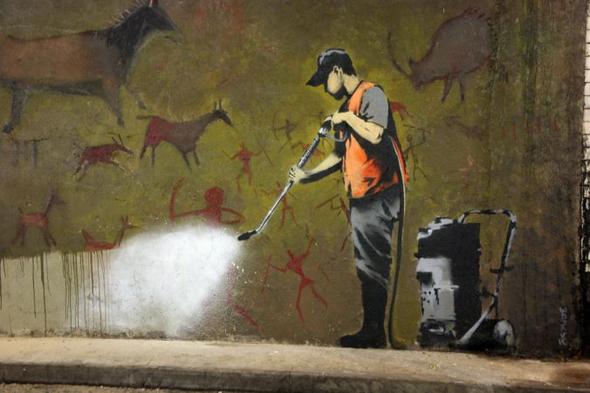 graffiti removal banksy 15 Memorable Street Art Masterpieces by Banksy
