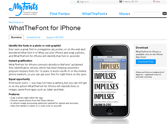 iPhone font app 1 Cool and Creative iPhone Font Applications
