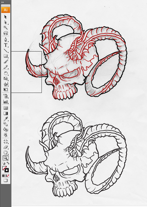 outline 2 pixel 77 complete guide to draw skulls illustrator A complete guide to drawing evil vector skulls in Illustrator