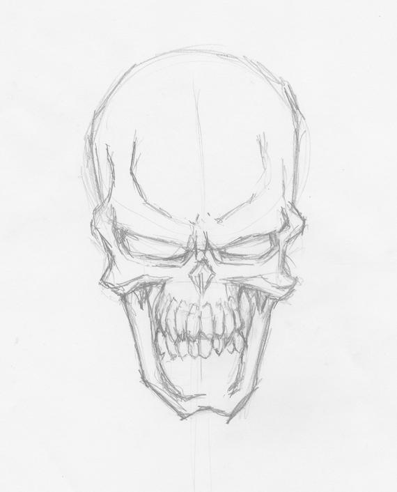 Creating Demon Skull on scary cartoon expressions