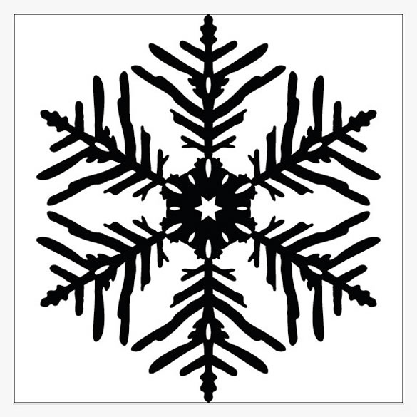 snowflake tut How to Create Vector Snowflakes Tutorials & Design Resources