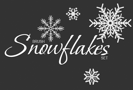 snowflakes brushes preview  How to Create Vector Snowflakes Tutorials & Design Resources