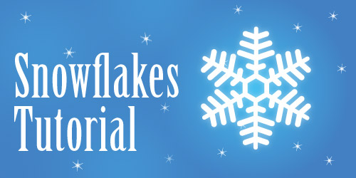 snowflakes tutorial3 How to Create Vector Snowflakes Tutorials & Design Resources