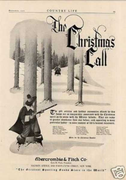 Abercrombie Fitch 1920 Get a Taste of Christmas with some Vintage Advertising Designs