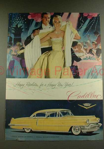 Cadillac 1956 Get a Taste of Christmas with some Vintage Advertising Designs