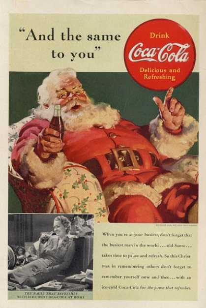 Coca Cola 1939 Get a Taste of Christmas with some Vintage Advertising Designs