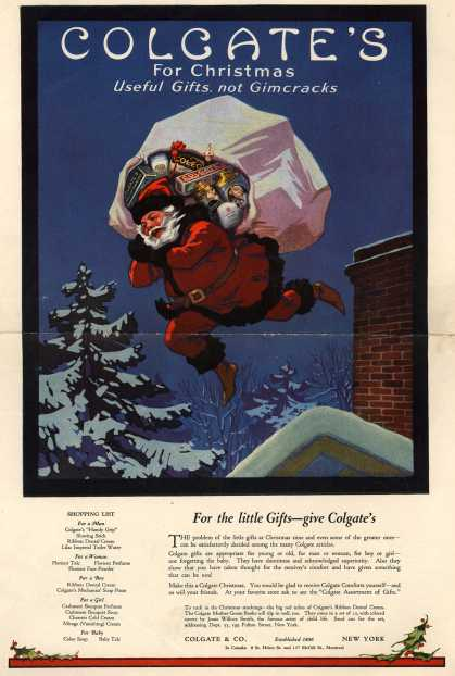 Colgate 1920 Get a Taste of Christmas with some Vintage Advertising Designs
