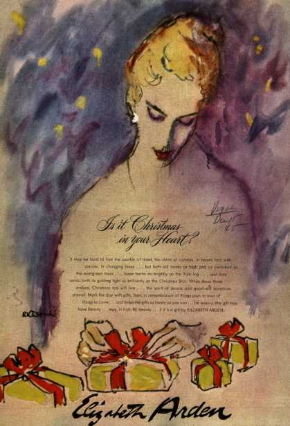 Elizabeth Arden 1945 Get a Taste of Christmas with some Vintage Advertising Designs