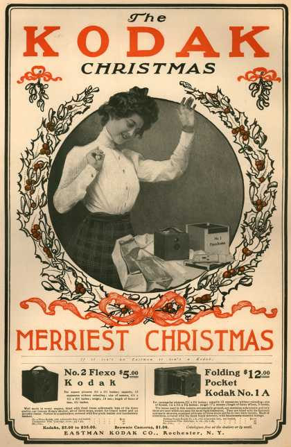 Kodak 1900 Get a Taste of Christmas with some Vintage Advertising Designs