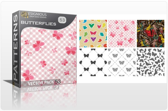 designious seamless patterns vector pack 53 butterflies 3 1 New Jaw Dropping T shirt Designs, Beautiful Seamless Patterns Vector Packs & Freebie from Designious.com!