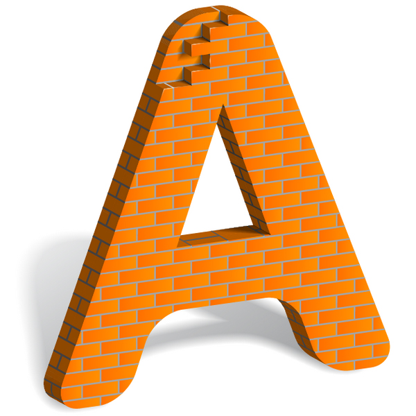 letter a from bricks tutorial illustrator Top 20 Vector Tutorials for Beginners and Advanced Designers
