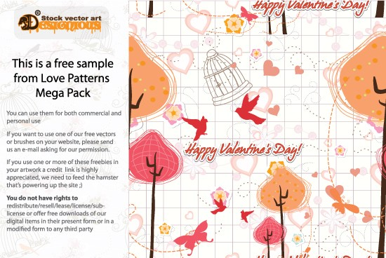 designious love patterns sample New Patterns Vector Packs & T shirt Designs + Freebie & Speed Drawing Video from Designious.com!