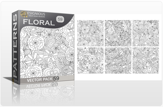 designious seamless patterns vector pack 59 floral chaos 0 New Vector Resources from Designious.com! Sugar Skulls, Seamless Patterns, Floral Vector Packs + Freebie