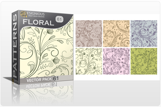 designious seamless patterns vector pack 61 floral chaos 0 New Vector Resources from Designious.com! Sugar Skulls, Seamless Patterns, Floral Vector Packs + Freebie
