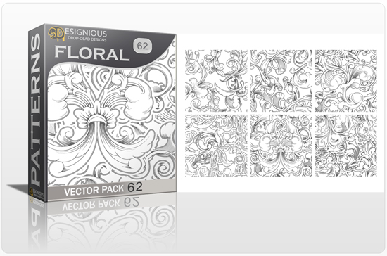 designious seamless patterns vector pack 62 floral chaos engraved 0 New Vector Resources from Designious.com! Sugar Skulls, Seamless Patterns, Floral Vector Packs + Freebie