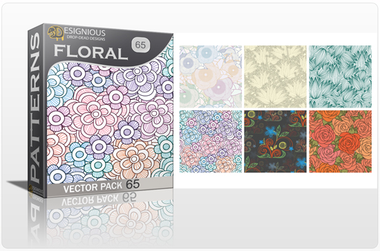 designious seamless patterns vector pack 65 floral chaos 0 New Vector Resources from Designious.com! Sugar Skulls, Seamless Patterns, Floral Vector Packs + Freebie