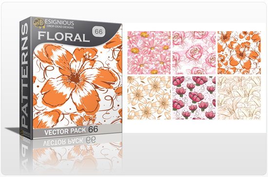 designious seamless patterns vector pack 66 floral watercolor 0 New Vector Resources from Designious.com! Sugar Skulls, Seamless Patterns, Floral Vector Packs + Freebie