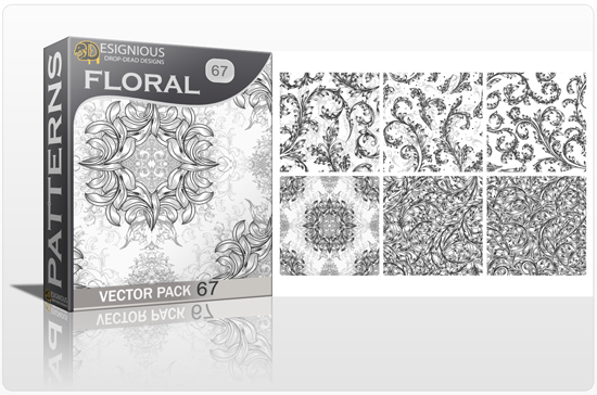 designious seamless patterns vector pack 67 floral chaos engraved 0 New Vector Resources from Designious.com! Sugar Skulls, Seamless Patterns, Floral Vector Packs + Freebie