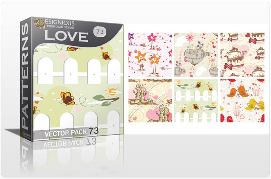 designious seamless patterns vector pack 73 love preview New Patterns Vector Packs & T shirt Designs + Freebie & Speed Drawing Video from Designious.com!