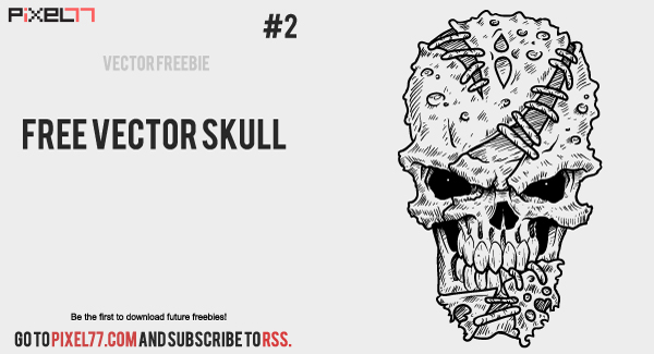 pixel 77 free vector skull Weekly Freebie #2: Vector Skull from Pixel77 & How Its Made
