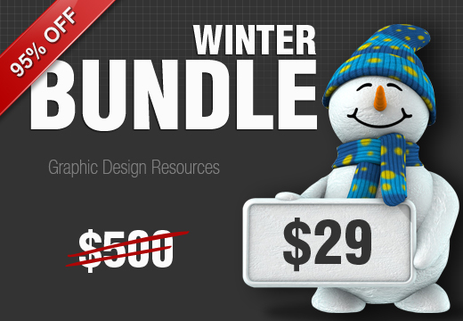 520x360 1 Inkydeals Winter Bundle $500 Worth of Design Goodies for only $29 + Bonus!