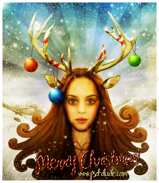 Christmas tutorial reindeer girl Photoshop Tutorials Roundup   December 2011