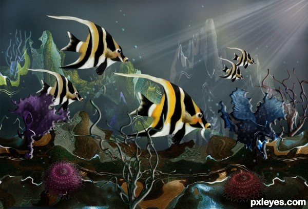 aquatic fish coral scene ps tutorial Photoshop Tutorials Roundup   January 2012