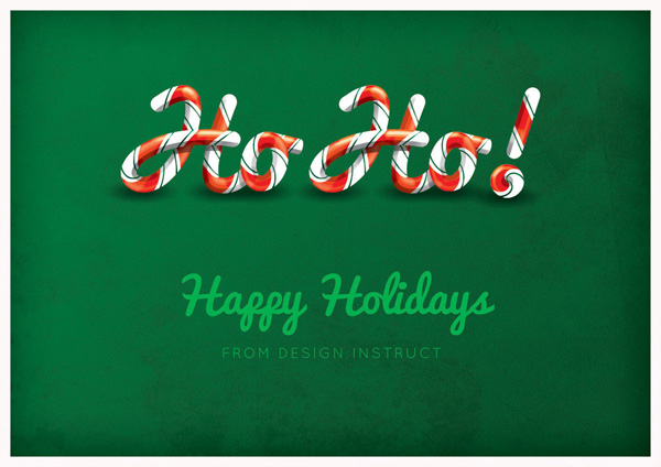 candy cane text effect ps tutorial Photoshop Tutorials Roundup   December 2011