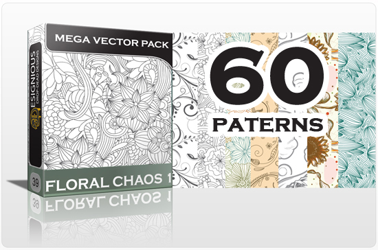 designious seamless patterns vector MEGA pack floral chaos 1 1 Inkydeals Winter Bundle   $500 Worth of Design Goodies for only $29 + Bonus!