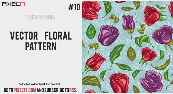 floral pattern free Free Vector of the Day #10: Free Vector Floral Pattern