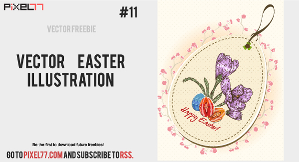 free vector easter illustration Daily Freebie #11: Free Easter Illustration