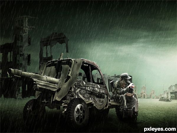 post war scene photo manipulation ps tutorial Photoshop Tutorials Roundup   January 2012