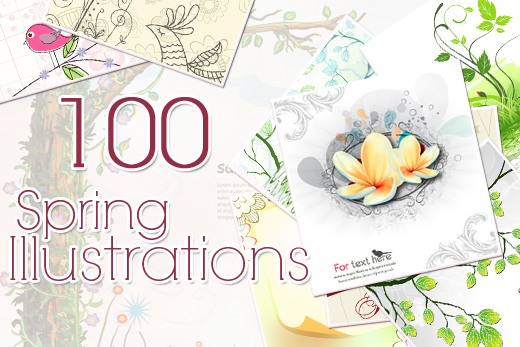 spring illustrations preview small Inkydeals Winter Bundle   $500 Worth of Design Goodies for only $29 + Bonus!