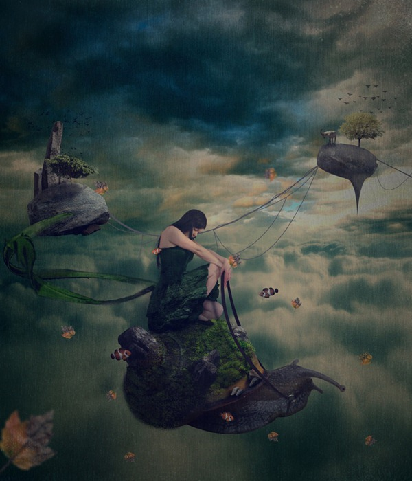 surreal photo manipulation with snail ps tutorial Photoshop Tutorials Roundup   December 2011