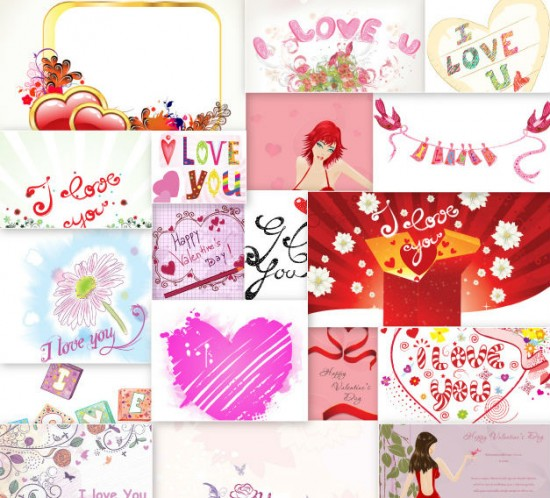 valentines day illustrations set 1 small 550x498 Inkydeals Winter Bundle   $500 Worth of Design Goodies for only $29 + Bonus!