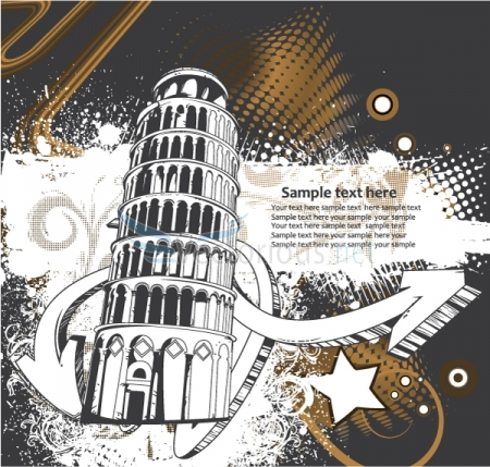 0620 urban grunge background Vector Monuments Youll Need in Your Design Projects & Their Story   Part 1