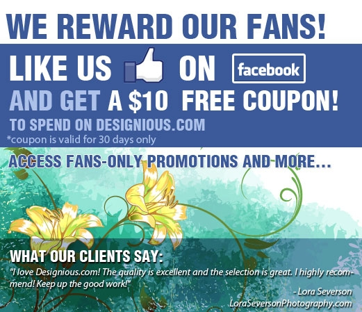 BLOG IMAGE We Reward Our Fans! Designious.com is giving back some design lovin with a special promotion!
