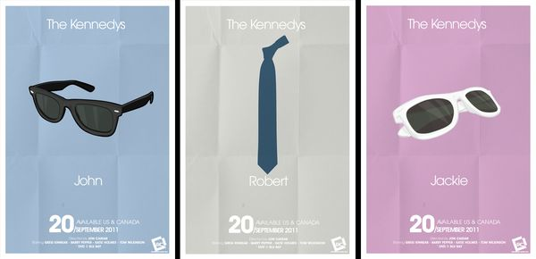 The Kennedys Minimal Poster Chad Gersky Artist of the Week   Graphic Designer Chad Gersky