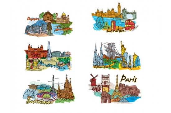 designious famous cities vector pack 2 preview 2 Vector Monuments Youll Need in Your Design Projects & Their Story   Part 1