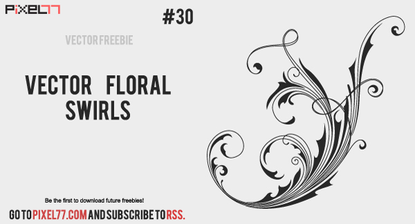 floral swirls 600 Free Vector of the Day #30: Vector Floral Swirls
