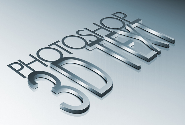 metal 3d text photoshop tutorial Photoshop Tutorials Roundup   January 2012