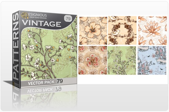 seamless vintage vector pack designious 79 10 Fabulous New Vintage Seamless Pattern Vector Packs & Freebie from Designious.com!