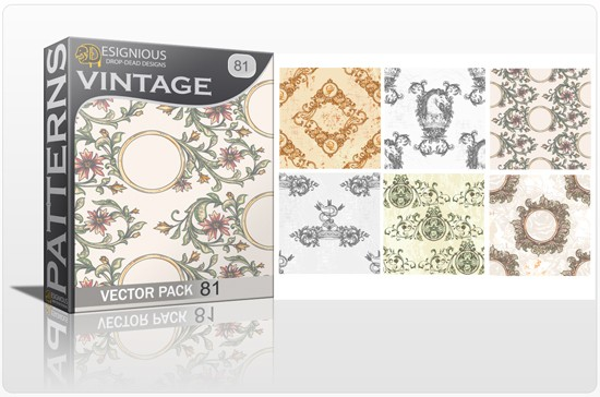 seamless vintage vector pack designious 81 10 Fabulous New Vintage Seamless Pattern Vector Packs & Freebie from Designious.com!