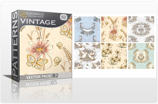 seamless vintage vector pack designious 82 10 Fabulous New Vintage Seamless Pattern Vector Packs & Freebie from Designious.com!